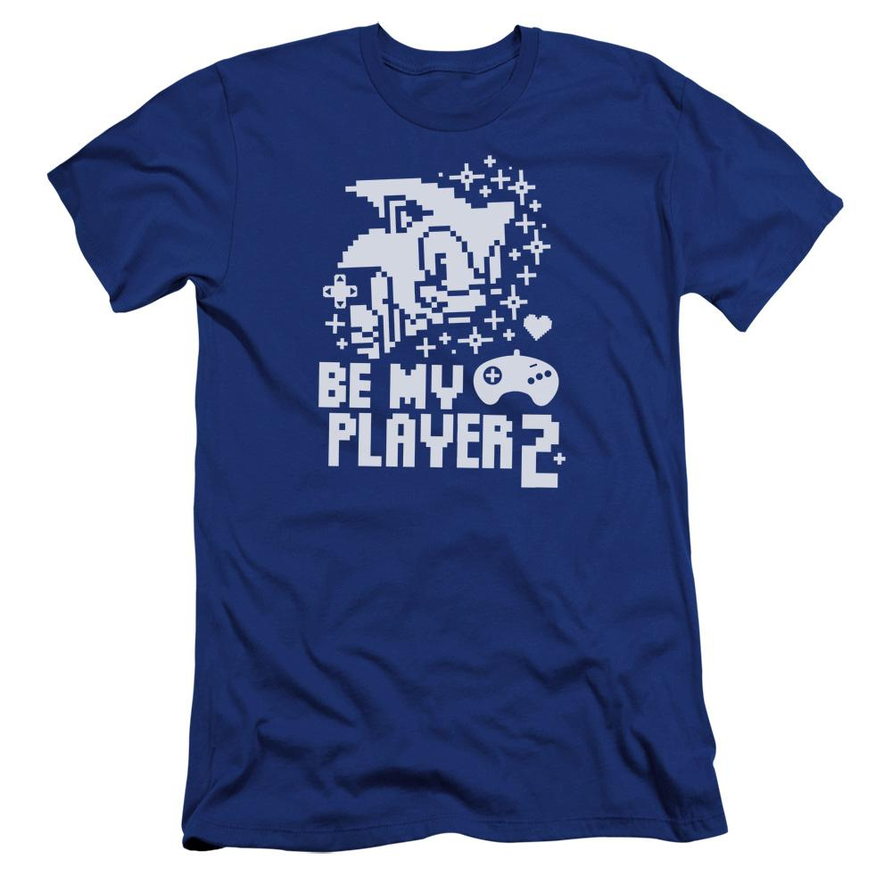 Sonic Classic Be My Player 2 Blue Tee