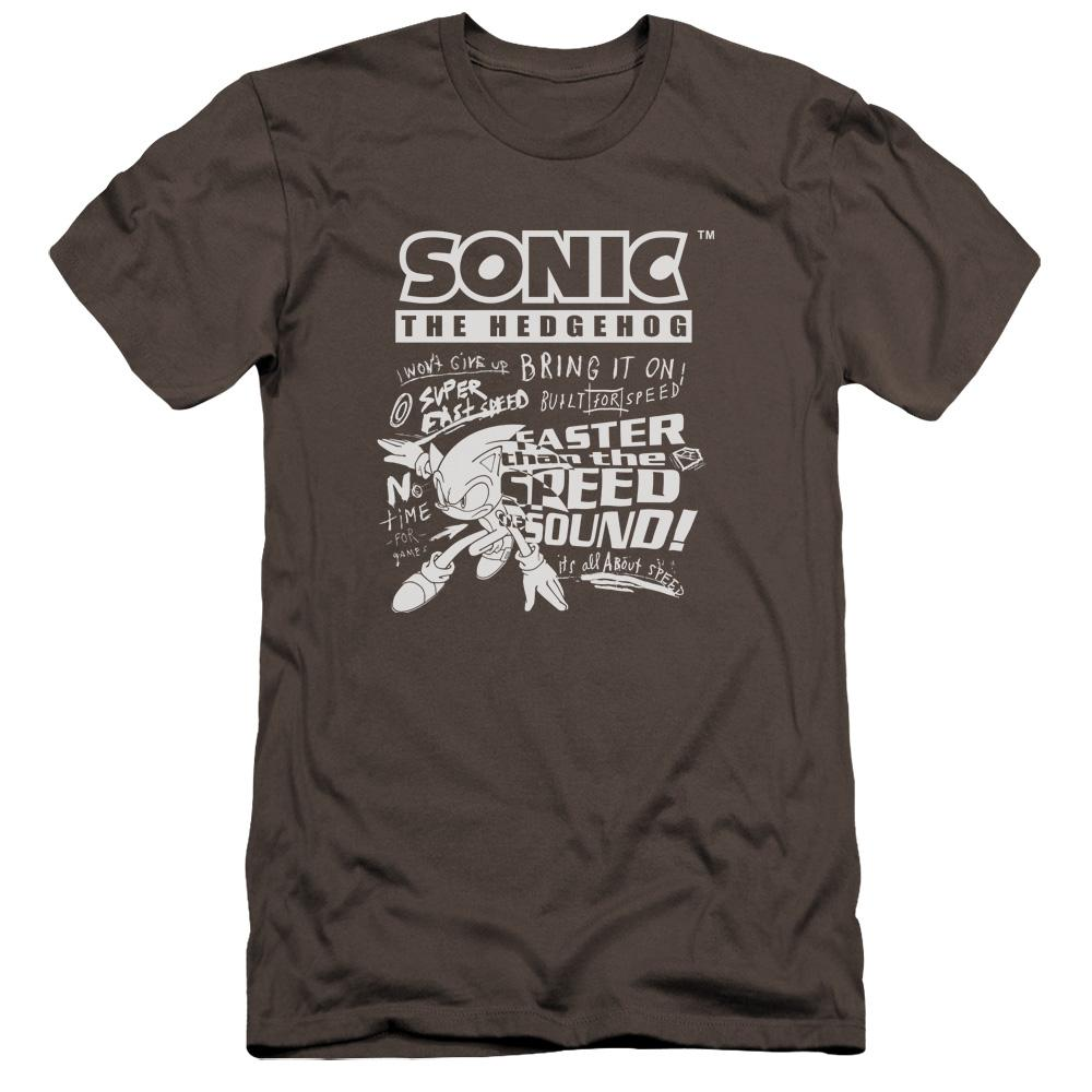 Colorless Motion Sonic Sketch Charcoal T-shirt