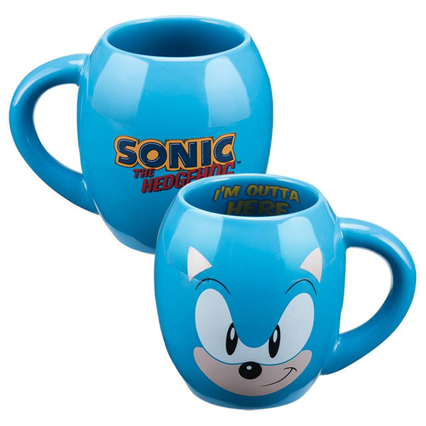 Sonic the Hedgehog 18oz Ceramic Oval Mug