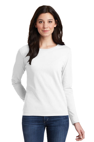 Ladies Heavy Cotton 100% Cotton Long Sleeve T-Shirt