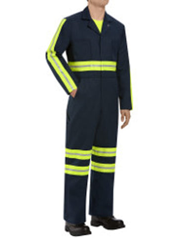 Twill Action Back Coverall Extended Long Sizes