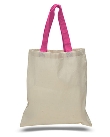 Contrast-Color Handle Tote