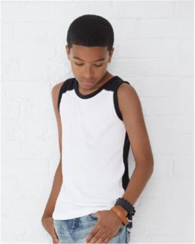 Youth Contrast Back Fine Jersey Tank