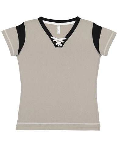 Women's Lace Up Fine Jersey Tee