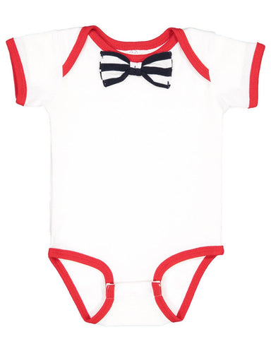 Baby Rib Infant Bow Tie Bodysuit