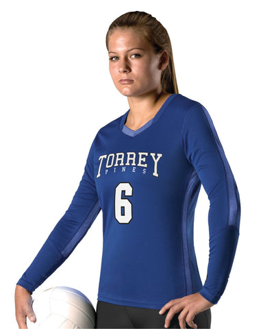 Girl's Dig Long Sleeve Volleyball Jersey