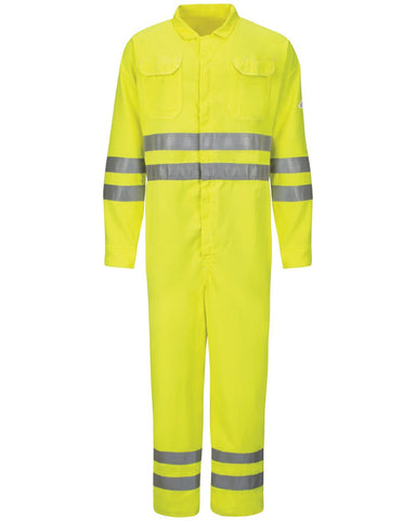 Hi-Vis Deluxe Coverall with Reflective Trim - CoolTouch® 2 - 7 oz. Long Sizes