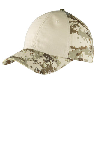 Colorblock Digital Ripstop Camouflage Cap