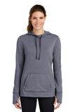Ladies PosiCharge  Tri-Blend Wicking Fleece Hooded Pullover