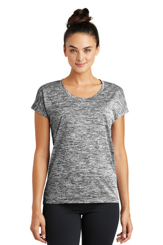 Ladies PosiCharge Electric Heather Sporty Tee