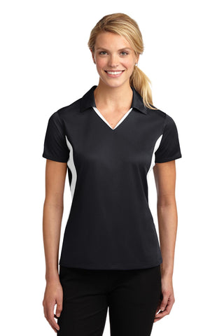 Ladies Side Blocked Micropique Sport-Wick Polo
