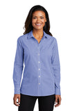 Ladies Broadcloth Gingham Easy Care Shirt