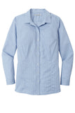 Ladies Pincheck Easy Care Shirt