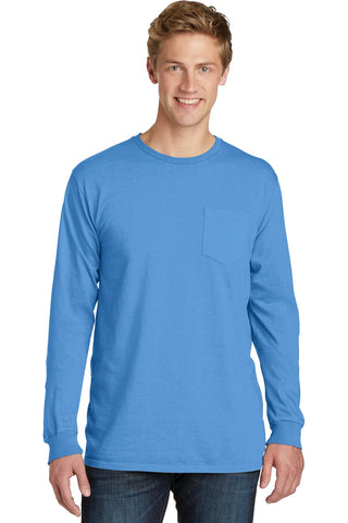 Beach Wash Garment-Dyed Long Sleeve Pocket Tee
