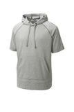 PosiCharge  Tri-Blend Wicking Fleece Short Sleeve Hooded Pullover