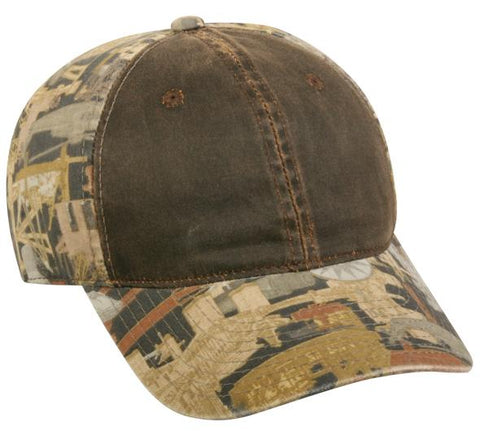 Weathered Cotton Front W/Oilfield Camo