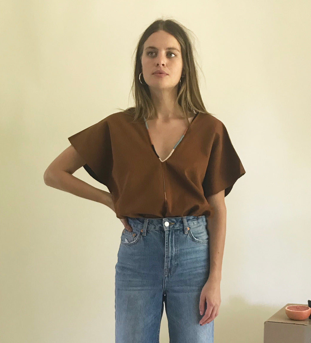 Ines Top Chestnut