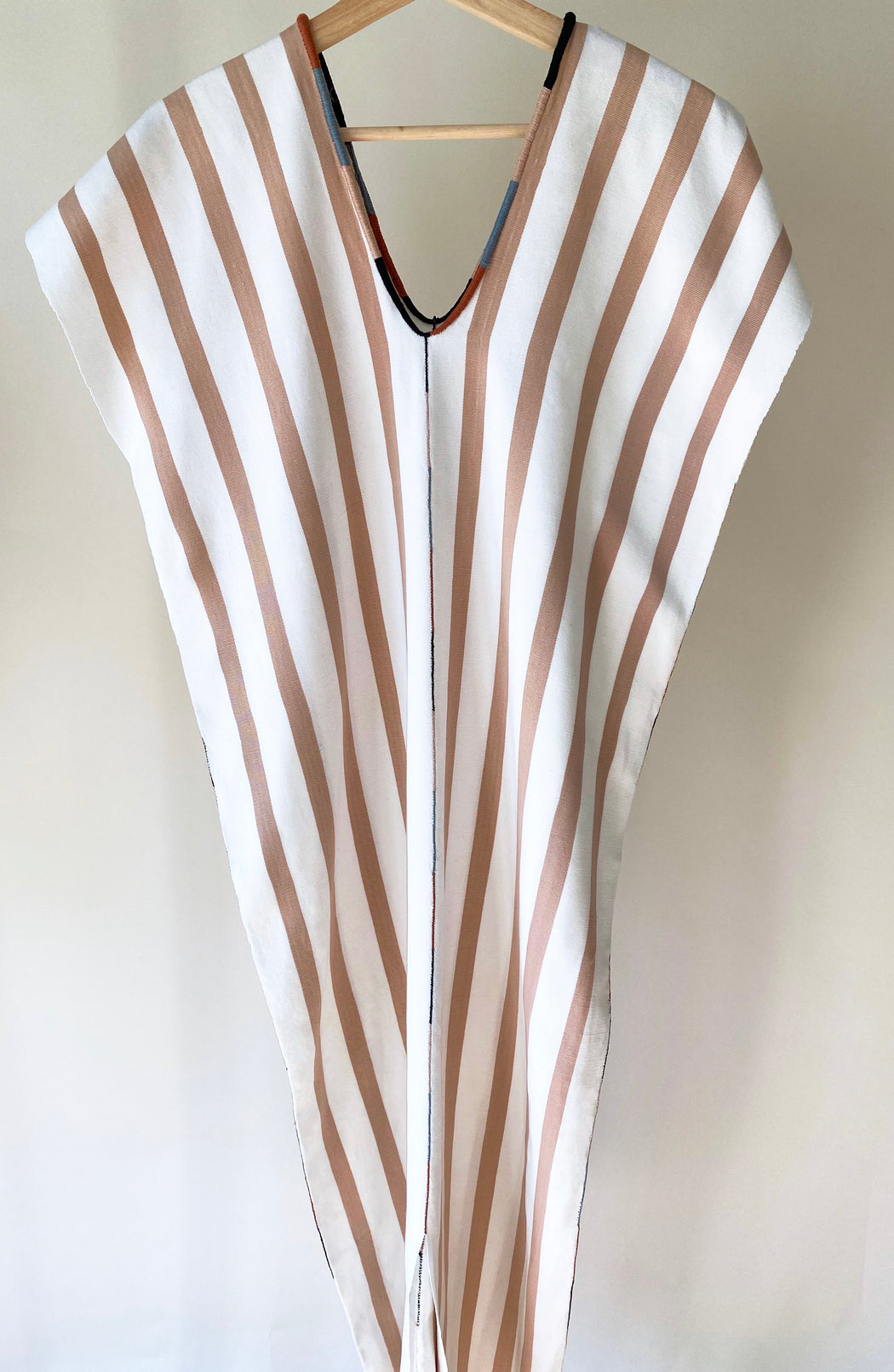 Alma Dress Nude & Natural Stripes