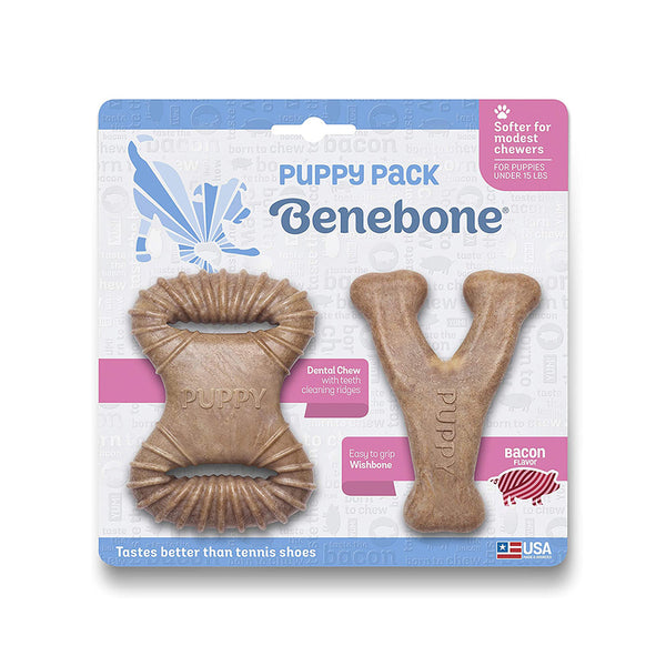 Benebone Bacon Puppy Pack Dog Toy