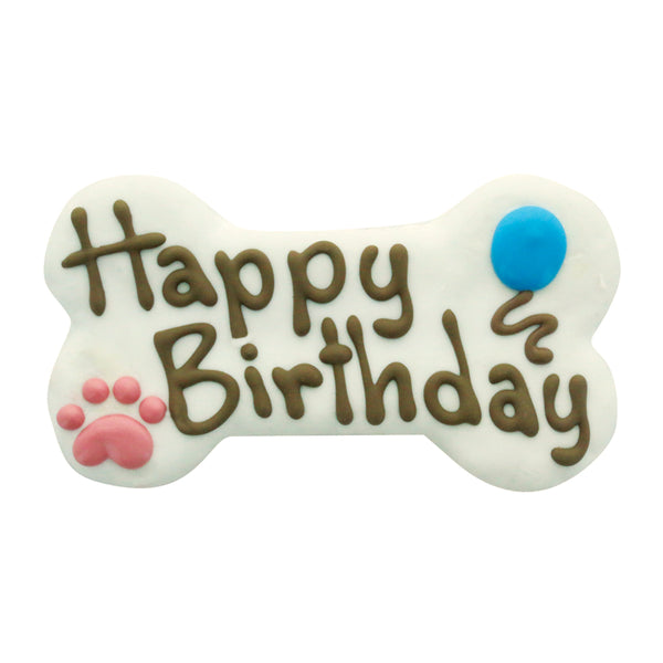 "Bosco and Roxy's 6"" Happy Birthday Bone Dog Treats"