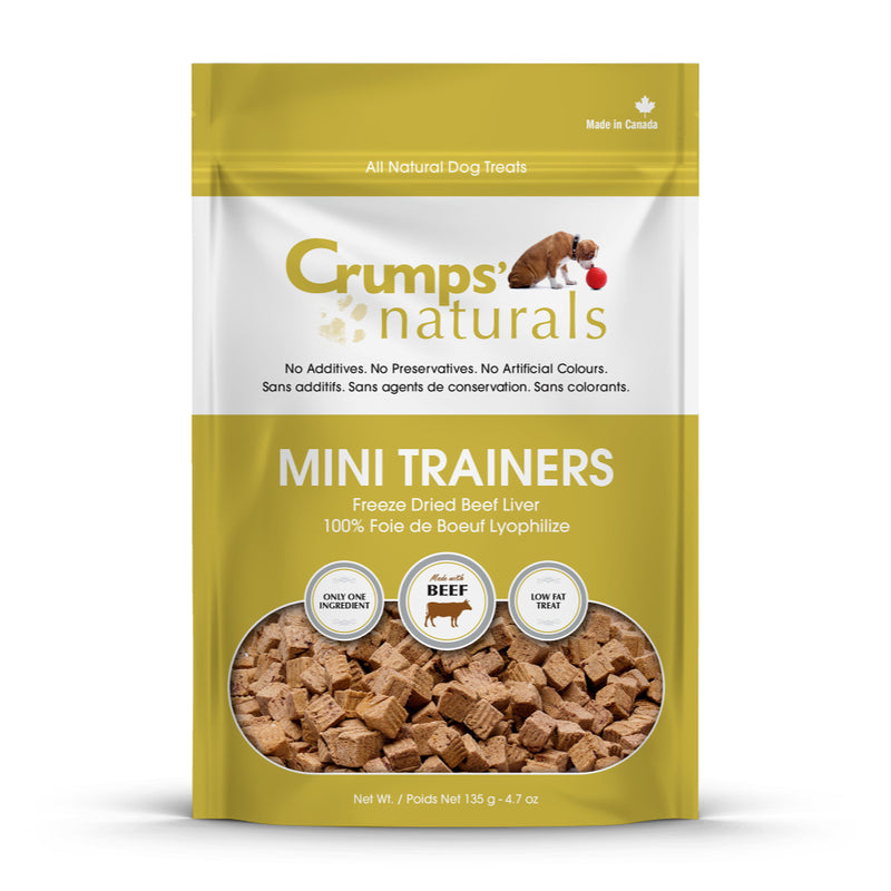 Crumps' Naturals Mini Trainers Freeze Dried Beef Liver Dog Treats