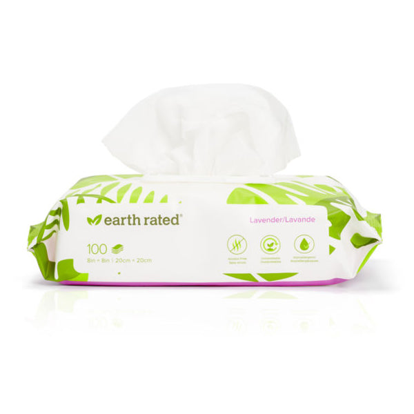 Earth Rated 100 USDA Certified Biobased Wipes, Scented