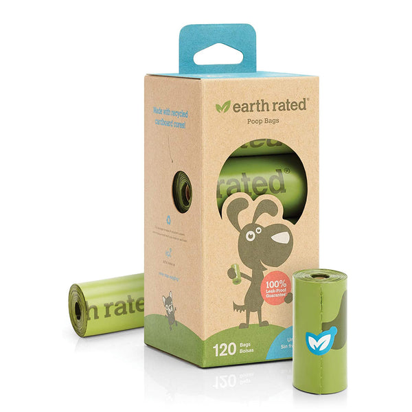 Earth Rated 120 Bags on 8 Refill Rolls, Unscented