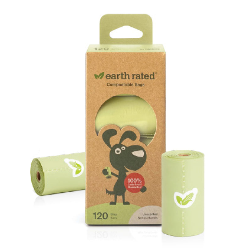 Earth Rated 120 Certified Compostable Bags on 8 Refill Rolls, Unscented