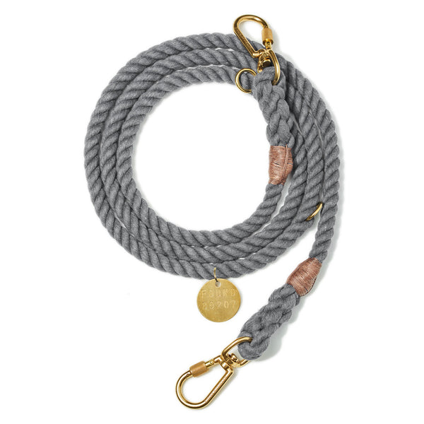 Found My Animal Grey Up-cycled Adjustable Rope Leash for Dogs