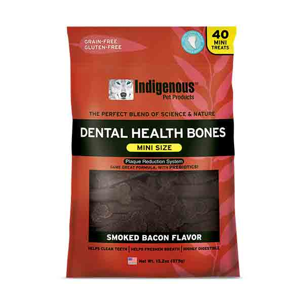 Indigenous Dental Health Bones Mini Smoked Bacon Dog Treats