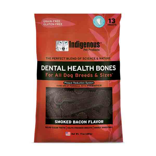 Indigenous Dental Health Bones Smoked Bacon Dog Treats
