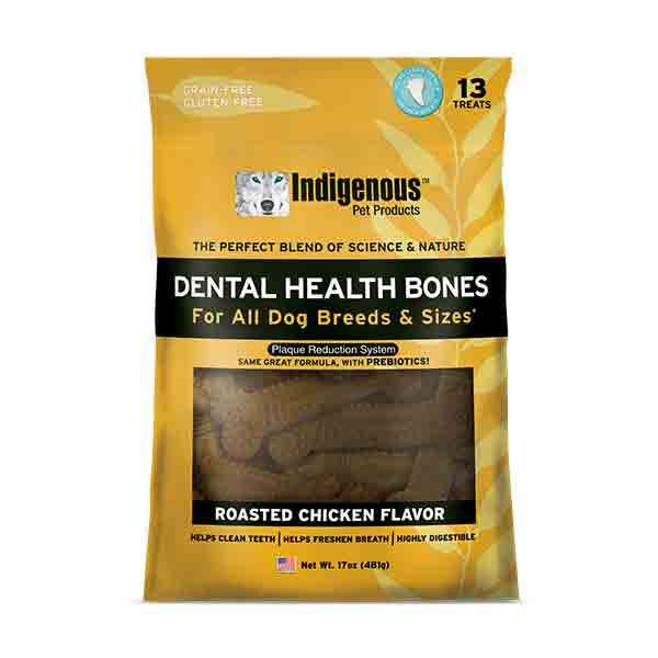 Indigenous Dental Health Bones Roasted Chicken Dog Treats