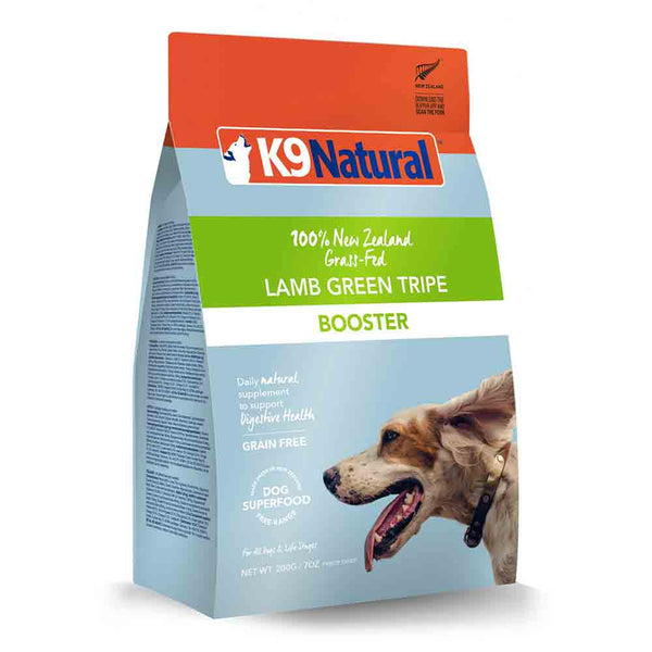K9 Natural Lamb Green Tripe Freeze Dried Booster Dog Food Topper
