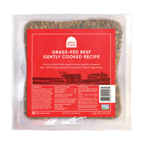 Open Farm Grass-Fed Beef Gently Cooked Dog Food