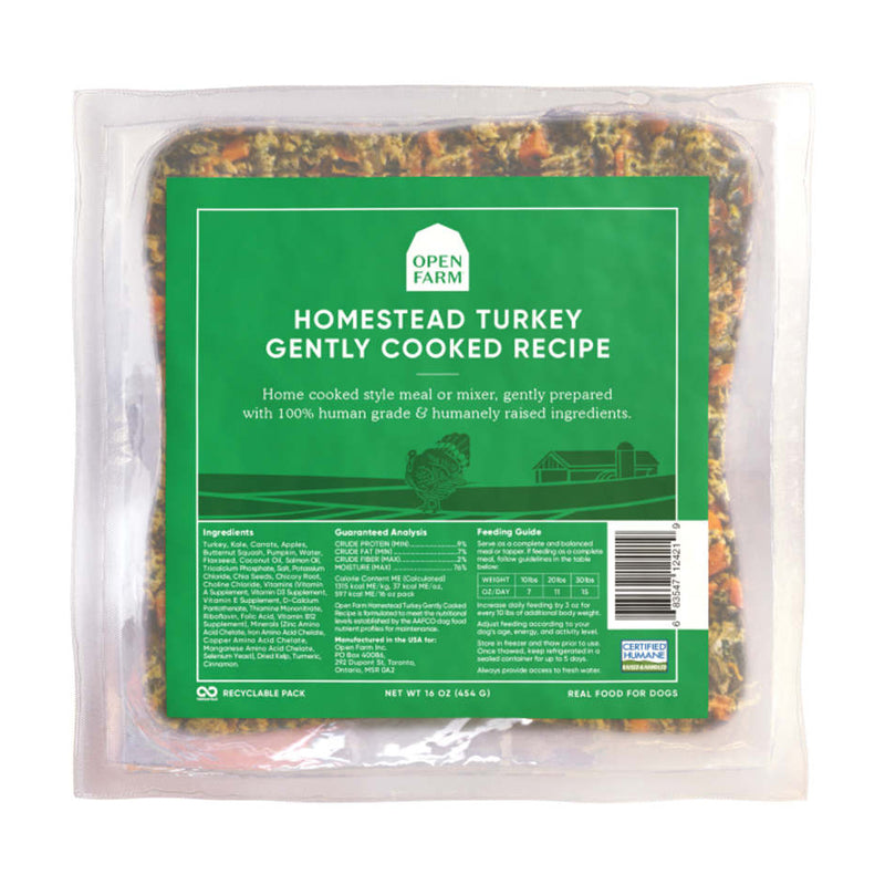 Open Farm Homestead Turkey Gently Cooked Dog Food
