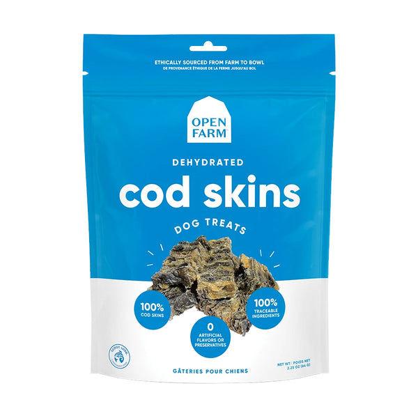 Open Farm Dehydrated Cod Skins Dog Treats
