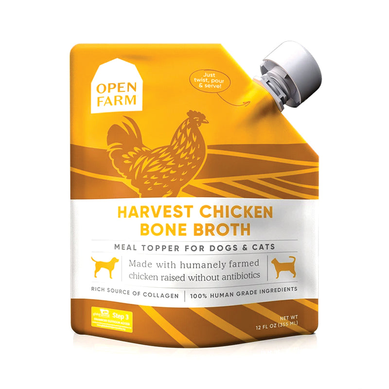 Open Farm Harvest Chicken Bone Broth for Dogs & Cats