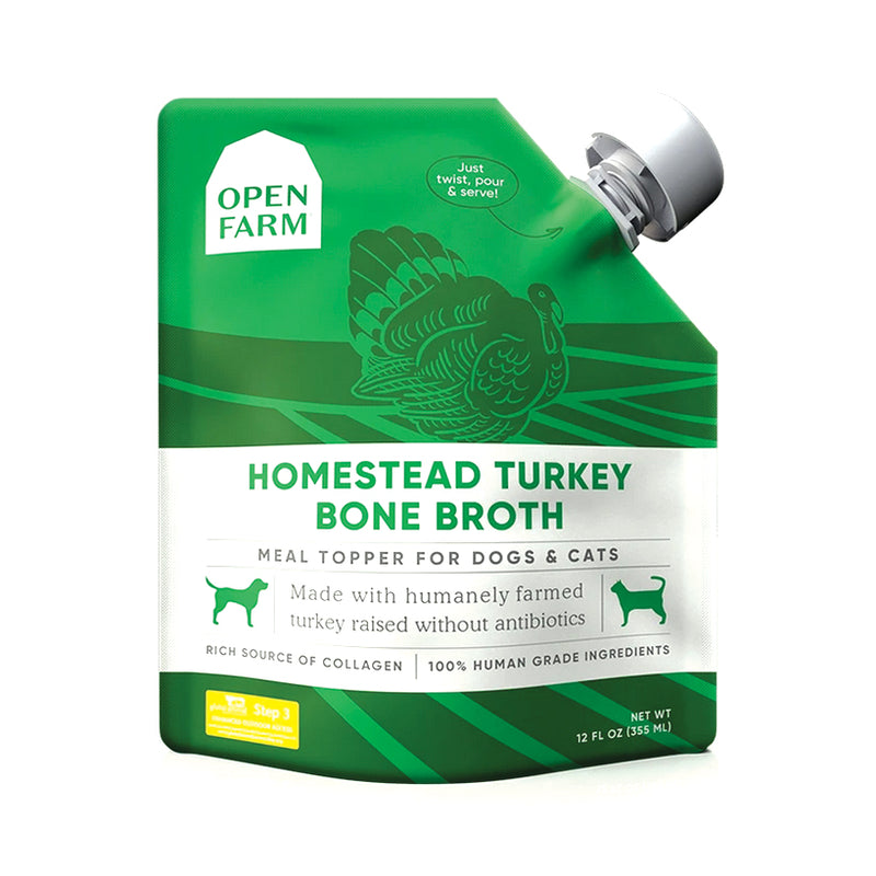 Open Farm Homestead Turkey Bone Broth for Dogs