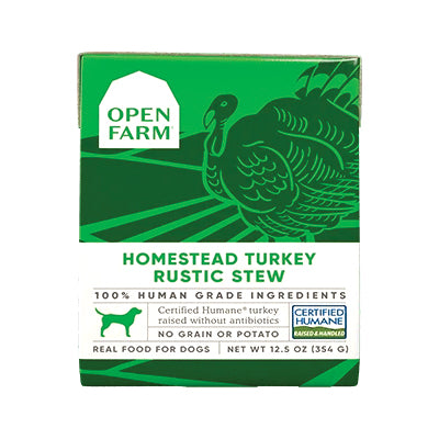 Open Farm Homestead Turkey Rustic Stew Dog Wet Food