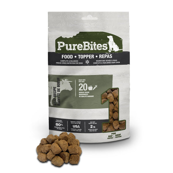 PureBites Beef Dog Food Topper