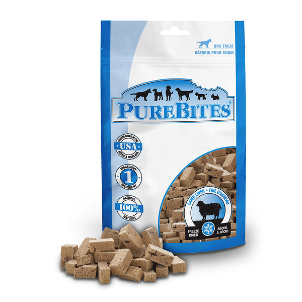 PureBites Freeze Dried Lamb Liver Dog Treats
