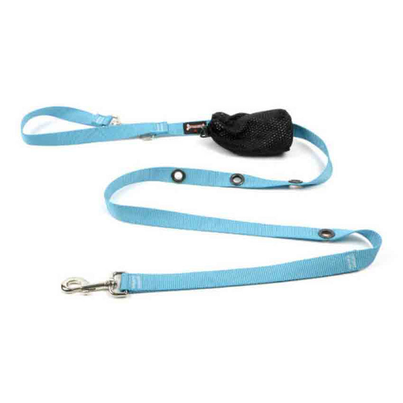 Smoochy Poochy Turquoise Nylon Hands Free 6' Leash for Dogs