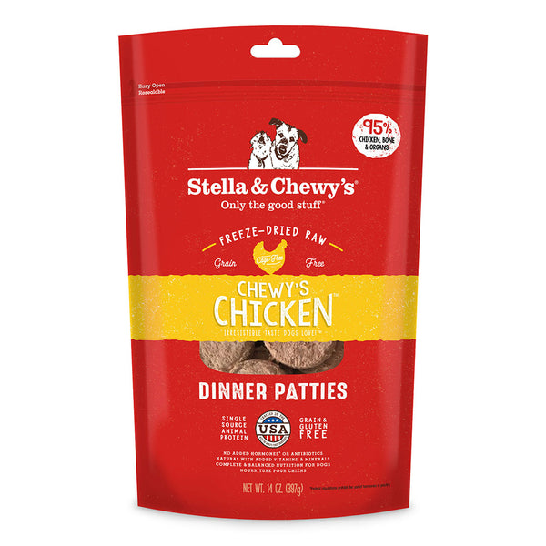 Stella & Chewy's Chewy's Chicken Freeze-Dried Raw Dinner Patties Dog Food