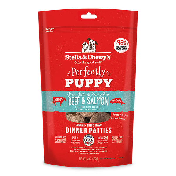 Stella & Chewy's Beef & Salmon Puppy Freeze-Dried Raw Dinner Patties Dog Food