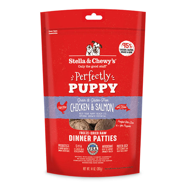 Stella & Chewy's Chicken & Salmon Puppy Freeze-Dried Raw Dinner Patties Dog Food
