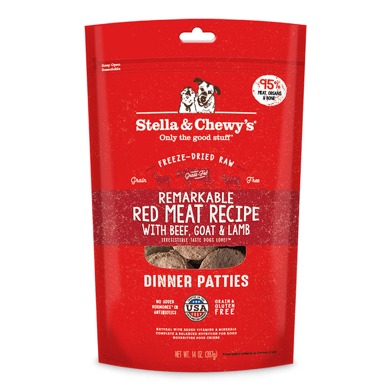 Stella & Chewy's Remarkable Red Meat Freeze-Dried Raw Dinner Patties Dog Food