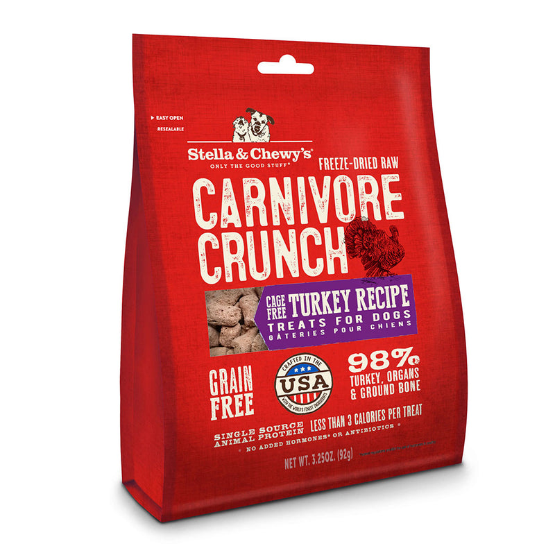 Stella & Chewy's Turkey Carnivore Crunch Dog Treats