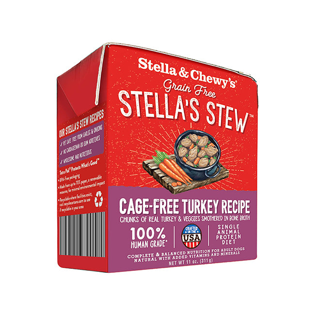 Stella & Chewy's Stella's Stews Cage-Free Turkey Dog Wet Food
