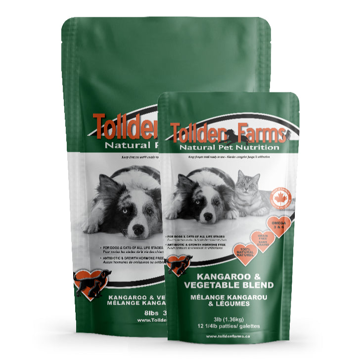 Tollden Farms Kangaroo & Vegetable Raw Dog Food