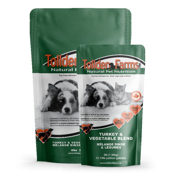 Tollden Farms Turkey & Vegetable Raw Dog Food